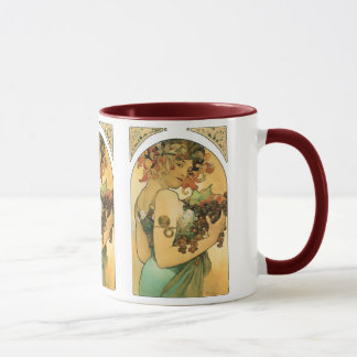 Mug Fruit de ~ d'Alphonse Mucha. 1897