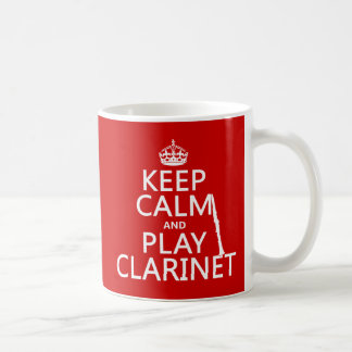 Mug Gardez la clarinette de calme et de jeu (toute