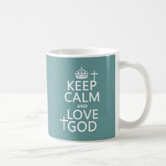 Mug Gardez le calme et aimez Dieu - toutes les