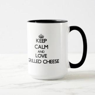 Mug Gardez le calme et aimez le fromage grillé