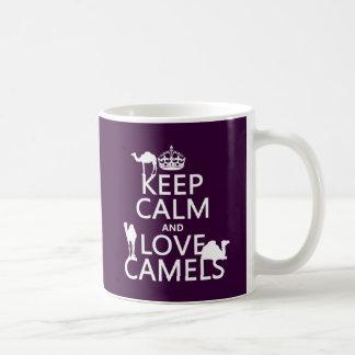 Mug Gardez le calme et aimez les chameaux (toutes les