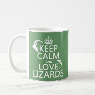 Mug Gardez le calme et aimez les lézards - toutes les