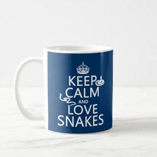 Mug Gardez le calme et aimez les serpents (toutes les