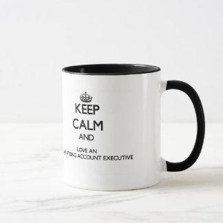 Mug Gardez le calme et aimez un budget de publicité