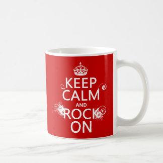 Mug Gardez le calme et basculez sur (toute couleur