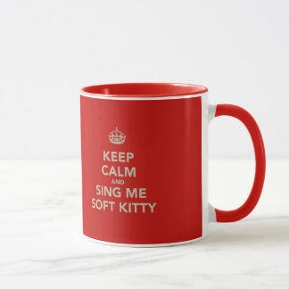 Mug Gardez le calme et chantez-moi Kitty doux