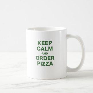 Mug Gardez le calme et commandez la pizza