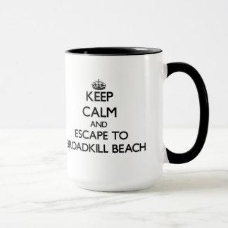 Mug Gardez le calme et échappez-vous à la plage