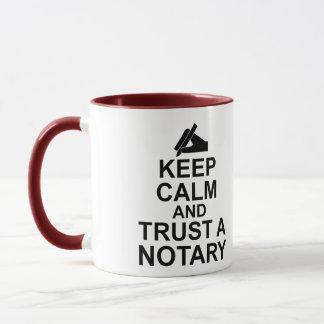 Mug Gardez le calme et faites confiance à un notaire