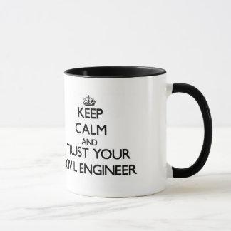 Mug Gardez le calme et faites confiance à votre