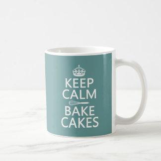 Mug Gardez le calme et faites les gâteaux cuire au