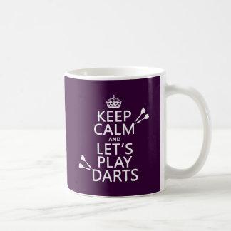 Mug Gardez le calme et jouons les dards