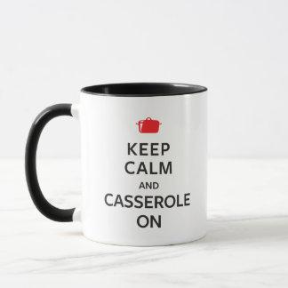 Mug Gardez le calme et la cocotte en terre dessus