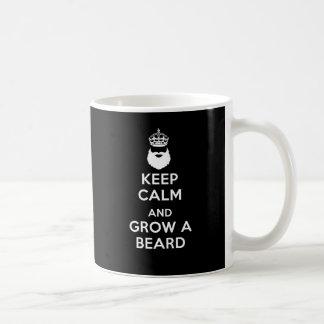 Mug Gardez le calme et laissez-vous pousser une barbe