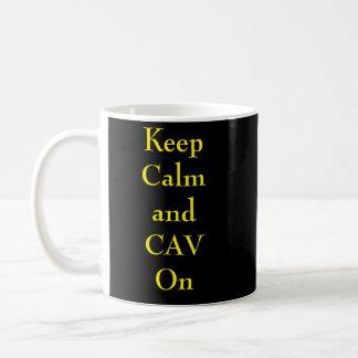 Mug Gardez le calme et le CAV sur Mub
