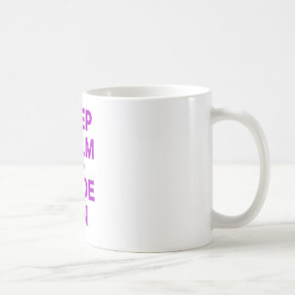 Mug Gardez le calme et le code dessus