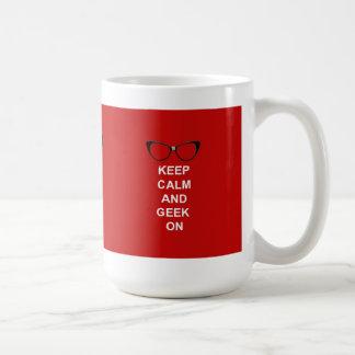 Mug Gardez le calme et le geek dessus