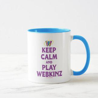 Mug Gardez le calme et le jeu Webkinz