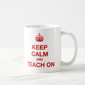 Mug Gardez le calme et l'enseignez dessus
