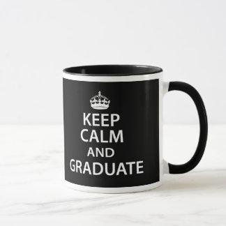 Mug Gardez le calme et recevez un diplôme l'obtention