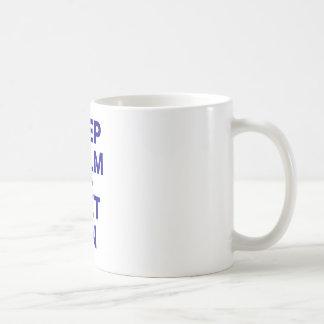 Mug Gardez le calme et suivez un régime dessus