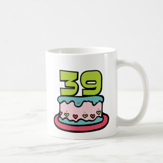 Mug Gâteau d'anniversaire de 39 ans