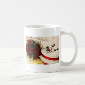 Mug Gâteau de mariage rouge et blanc