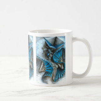 Mug Geisha dans le bleu