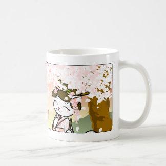 Mug Geisha Kitty de fleurs de cerisier