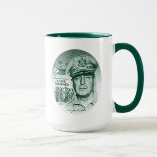 Mug Gen. MacArthur I sont retournés (la copie verte)