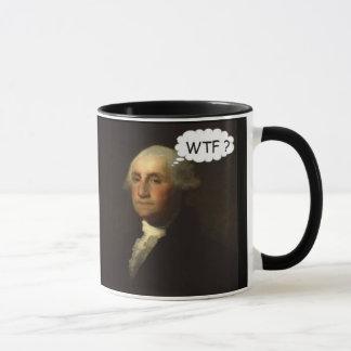 Mug George Washington tournant dans sa tombe drôle