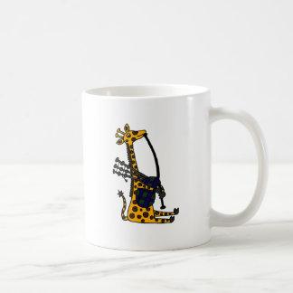 Mug Girafe drôle jouant l'art de cornemuses