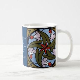 Mug Gloires de matin blanches - citation de Gertrude