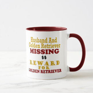 Mug Golden retriever et récompense absente de mari