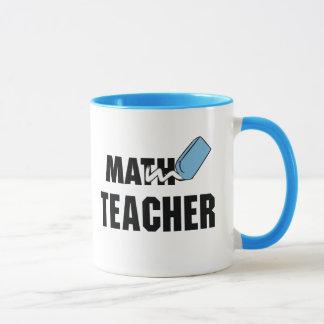 Mug Gomme drôle de bleu de professeur de maths