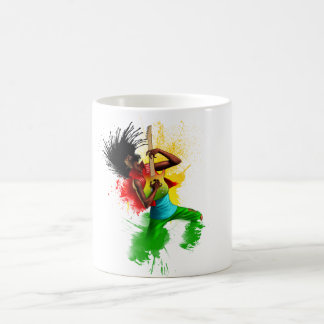 Mug Graffiti de musique d'homme de rasta de reggae de