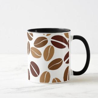 Mug Grain de café - intérieur blanc classique de