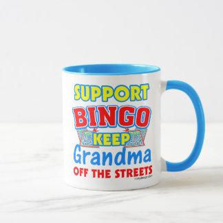 Mug Grand-maman de bingo-test de soutien