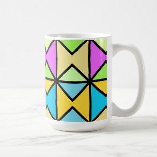 """Mug grand modèle """"Géométrique coloré Pop Art"""""""
