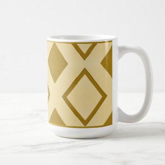 """Mug grand modèle, """"Losanges dorés"""""""