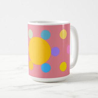 """Mug grand modèle, rose, """"Fleur stylisée Pastel"""""""