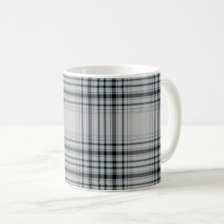 Mug Grand plaid de tartan noir gris