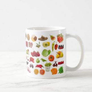 Mug grande collection de fruits et légumes