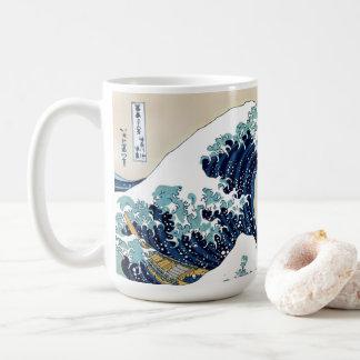 Mug Grande vague reconstituée outre de Kanagawa par