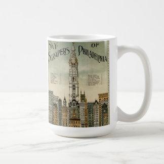 Mug Gratte-ciel de Philadelphie (poster vintage 1898)