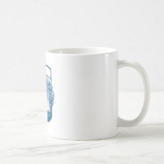 Mug Gravure sur bois en livre d'île d'orques de
