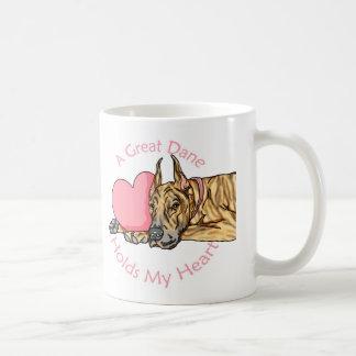 Mug Great dane juge le coeur Brindle