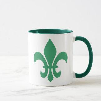 Mug Green Fleur de Lis