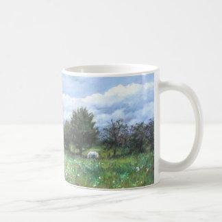 Mug Green Landscape with white horse