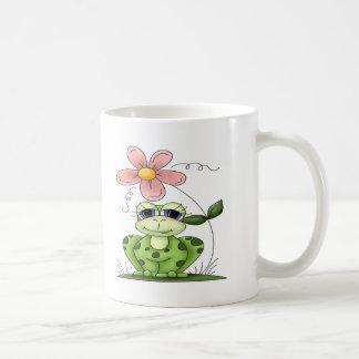 Mug Grenouille avec la fleur